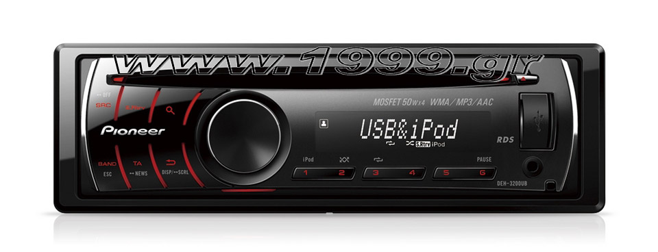 DEH-3200UB CD Tuner with Front USB, iPod Direct Co