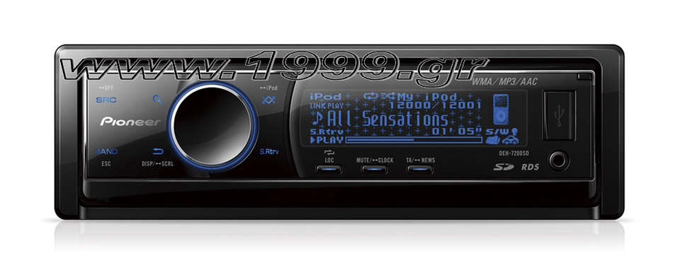 DEH-7200SD PIONEER CD Tuner with iPod Control, SD